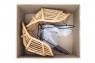 Обеденное кресло Ники из натурального ротанга светло-коричневого цвета, CRUZO kn1847