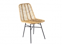 Плетений стілець Терра з натурального ротангу на металевій основі CRUZO st10875