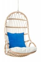 Подвесное кресло-качель CRUZO Шелл из натурального ротанга, медовый ks0008