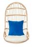 Подвесное кресло-качель Шелл CRUZO натуральный ротанг медовыйks0008
