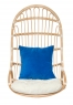 Подвесное кресло-качель Шелл из натурального ротанга, медовый, Cruzo™, ks0008