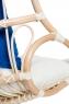 Підвісне крісло-гойдалка Шелл CRUZO натуральний ротанг, медовий, ks0008