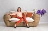 Комплект мебели CRUZO Пеллегрино натуральный ротанг pl0001
