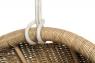 Подвесное кресло-кокон Ирма из натурального ротанга светло-коричневый CRUZO ks0010