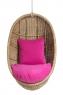 Підвісне крісло-кокон Ірма з натурального ротангу світло-коричневий CRUZO ks0010
