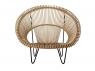 Лаунж-крісло Мун CRUZO натуральний ротанг, світло-коричневий, sm1092