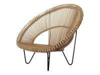 Лаунж-кресло Мун CRUZO натуральный ротанг, светло-коричневый, sm1092