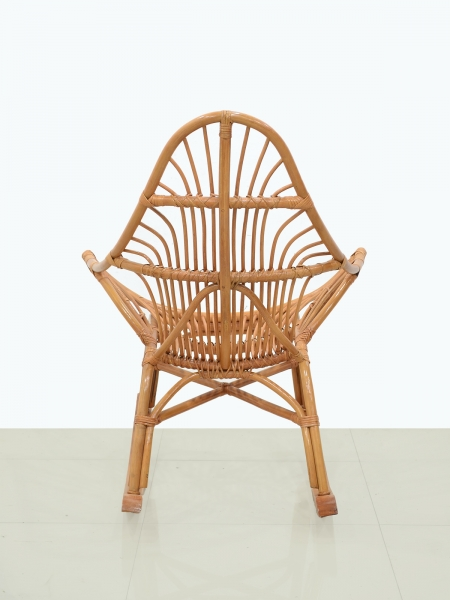 Кресло качалка CRUZO Нео натуральный ротанг, тёмно-коричневый, kk0004