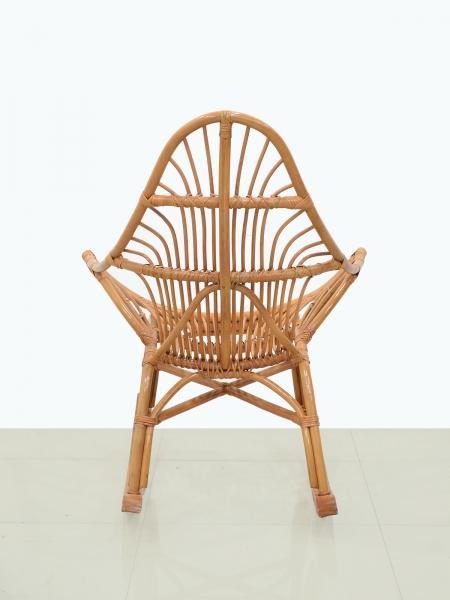 Кресло качалка CRUZO Нео натуральный ротанг тёмно-коричневый (kk0004)