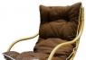 Кресло качалка CRUZO Нью Рокер натуральный ротанг медовый kk0011