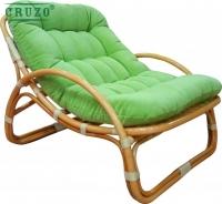 Лаунж-кресло Соло CRUZO натуральный ротанг медовый kr0024