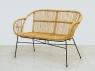 Плетеный комплект мебели для террасы или балкона Ники из натурального ротанга софа, 2 кресла и кофейный столик CRUZO km08212