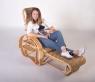 Кресло-шезлонг Одиссей CRUZO натуральный ротанг, медовый, kr0017