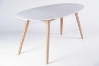 Обеденный стол Ай CRUZO (на 6 персон) тик белый st0001