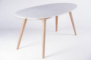 Обеденный стол CRUZO Эи белый / дерево (st0001)