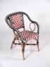 Обеденный комплект CRUZO Бистро 5 (стол +6 стульев) тик / натуральный и искусственный ротанг, мультиколор, ok0005