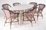 Кресло CRUZO Bistro Armchair 5 натуральный ротанг, медовый, kr0009