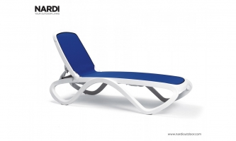 Шезлонг Nardi Omega Bianco Blu 40417.00.112