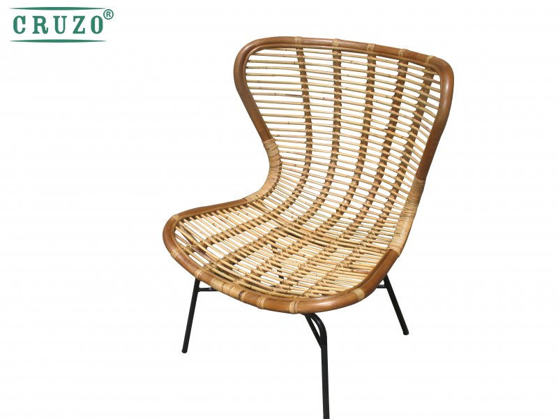 Кресло Оскар CRUZO натуральный ротанг, светло-коричневый, os8318