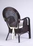 Обеденный комплект CRUZO Самбир (стол +5 кресел) натуральный ротанг коричневый ok0009