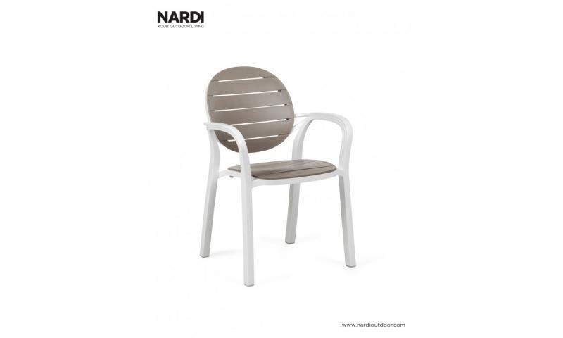 Крісло Nardi Palma Bianco Tortora 40237.00.001