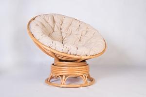 Кресло качалка CRUZO Папасан натуральный ротанг медовый kk0014