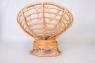 Кресло качалка CRUZO Папасан натуральный ротанг, медовый, kk0014