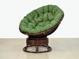 Кресло-качалка Папасан CRUZO натуральный ротанг, коричневый, pa0001