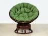 Крісло-гойдалка Папасан CRUZO натуральний ротанг, коричневий, pa0001