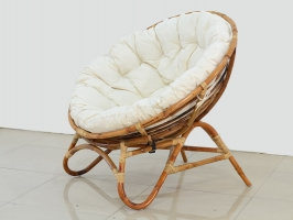 Круглое кресло Папасан Нуово CRUZO натуральный ротанг kr08201