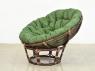 Комплект меблів Папасан CRUZO (софа, 2 крісла, столик) натуральний ротанг горіховий d0420