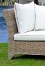 Диван - софа CRUZO Париж натуральний ротанг, горіховий, d0008