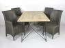 Обідній комплект Париж CRUZO (стіл 180х90 см і 4-6 стільців) тік лум метал kt211020201