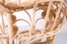 Кресло Павлин CRUZO натуральный ротанг, розовый, kr0010p