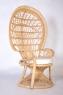 Кресло CRUZO Павлин, розовое, натуральный ротанг kr0010p