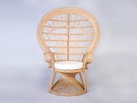 Крісло Павлін CRUZO натуральний ротанг світло-медовий kr0010