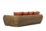 Большой диван Пеллегрино CRUZO натуральный ротанг, коричневый, pl0002
