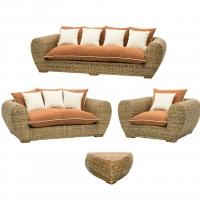 Комплект плетеной мебели Пеллегрино CRUZO натуральный ротанг коричневый pl0001