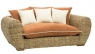 Софа Пеллегрино двухместная CRUZO натуральный ротанг, светло-коричневый, PL0004