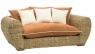 Софа Пеллегріно двомісна CRUZO натуральний ротанг, світло-коричневий, PL0004