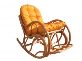 Кресло-качалка Раунд CRUZO натуральный ротанг, светло-коричневый, kr0030