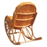 Крісло-гойдалка Раунд CRUZO натуральний ротанг, світло-коричневий, kr0030