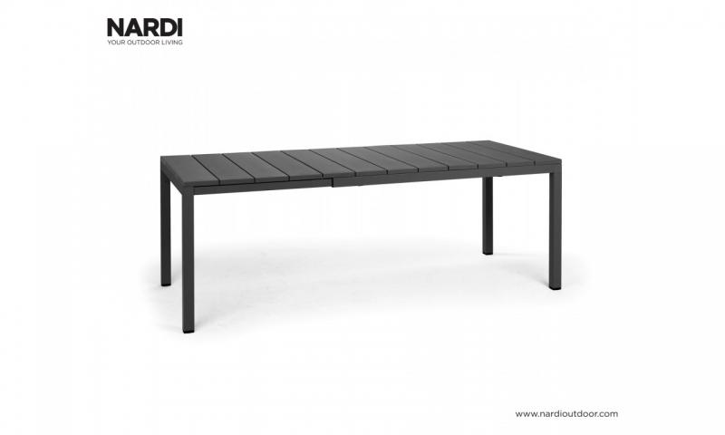 Стол Nardi Rio 140 Extensible Antracite Vern Antracite 48352.02.000