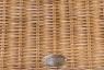 Кресло качалка CRUZO Рокин Лавсит натуральный ротанг ореховый kk0013