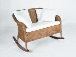 Кресло-качалка Рокин Лавсит CRUZO натуральный ротанг, ореховый, kk0013
