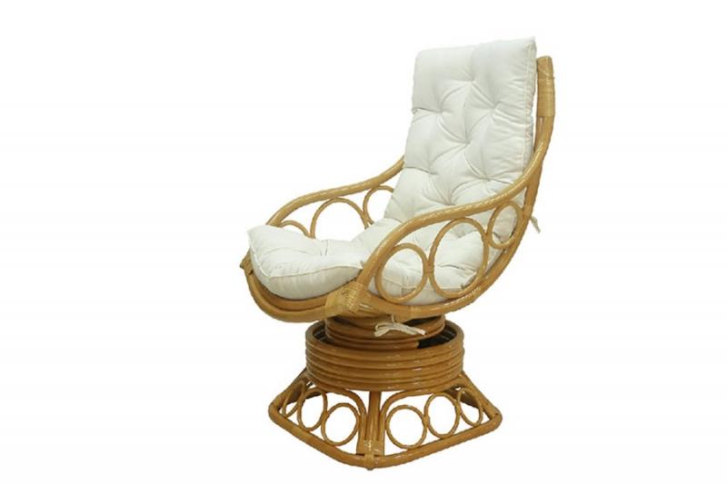 Кресло-качалка CRUZO Ron Rocker Chair натуральный ротанг, медовый, kk0001