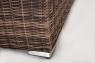 Модульный диван тройка + столик CRUZO Раунд искусственный ротанг, коричневый, d0025