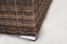 Модульний диван двійка + столик CRUZO Раунд штучний ротанг, коричневий, d0026