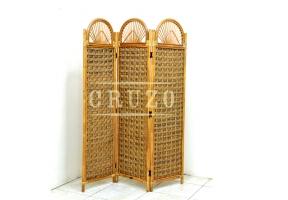 Ширма CRUZO Раундби натуральный ротанг медовый dr0002
