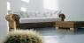 Комплект мягкой мебели Роял Кроко Сет CRUZO натуральный ротанг, темно-коричневый, md00098